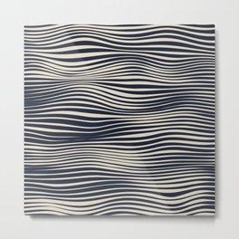 Waving Lines Metal Print