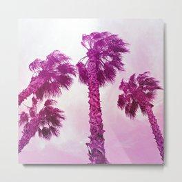 Neon Palms Metal Print
