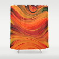 fabric Shower Curtains featuring fabric by Cool-Sketch-Len