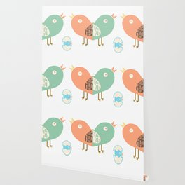 Birds and egg Wallpaper