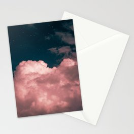 Pink night clouds Stationery Cards