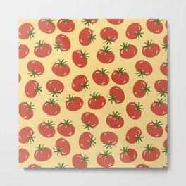 Tomato Lover - Yellow Metal Print