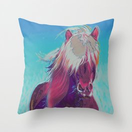Be Wild, Live Free III Throw Pillow
