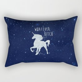 Whatever Bitch, Funny, Pretty, Quote Rectangular Pillow