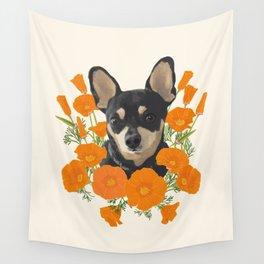 Poppy Dog Wall Tapestry