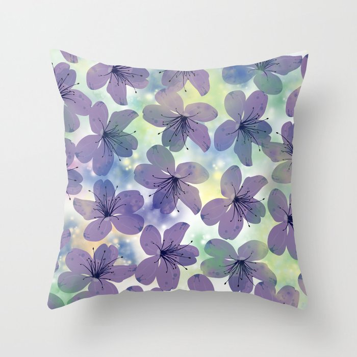Floral Pattern #4 Throw Pillow