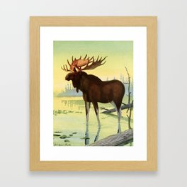 Fuertes, Louis Agassiz (1874-1927) - Burgess Animal Book for Children 1920 (Moose) Framed Art Print
