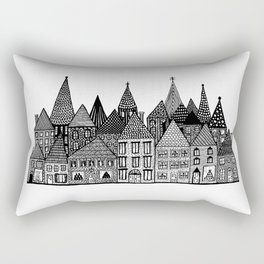 Medieval Village II Rectangular Pillow