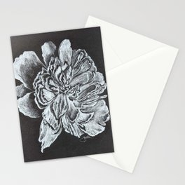 Tennessee Peony black and white Stationery Cards