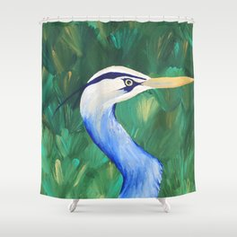 Heron in the Grass Shower Curtain
