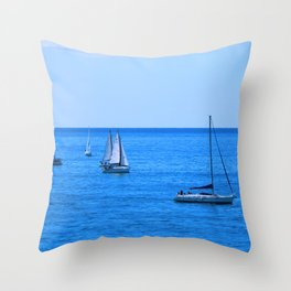sitges sea Throw Pillow