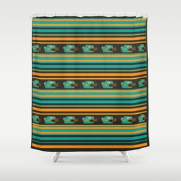 Aztec Mexican Mythological Jaguar Pattern Shower Curtain
