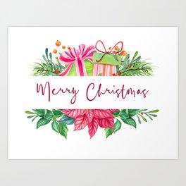 Merry Christmas Design Elements 1 Art Print