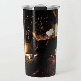 Crackling Fire Travel Mug