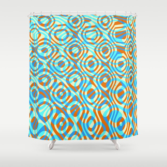 Mixed Polyps Orange - Coral Reef Series 038 Shower Curtain