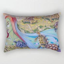 Torrent Of Turtles Rectangular Pillow