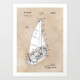 patent art Court Sailboat 1964 Art Print