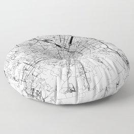 Milan White Map Floor Pillow