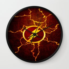 Flash With Lightning Wall Clock