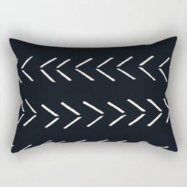 black mudcloth arrows chevron Rectangular Pillow