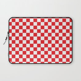 Red Checkerboard Pattern Laptop Sleeve