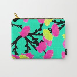 Watercolor Roses Pink Yellow Carry-All Pouch