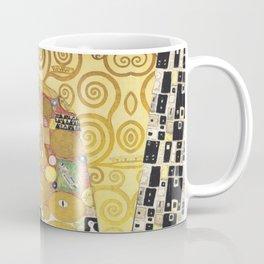 Huge Embrace behind the Curtain by Gustav Klimt Coffee Mug