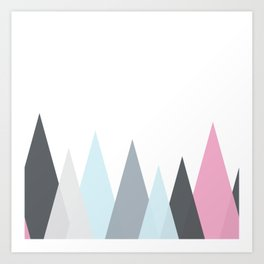 Scandinavian Geometric vector pattern Art Print