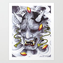 Hannya Art Print
