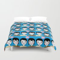 friendship Duvet Covers featuring Friendship by Jonny Bateau