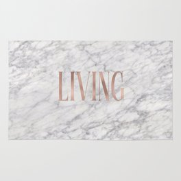Living - rose gold marble Rug