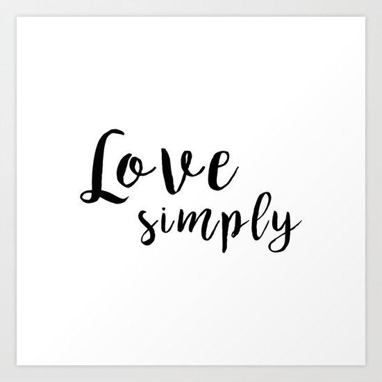Love Simply Art Print