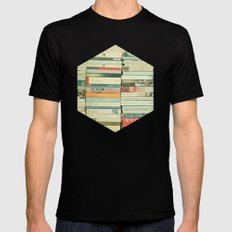 Bookworm Black LARGE Mens Fitted Tee