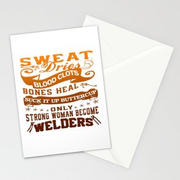 Welder Woman Stationery Cards