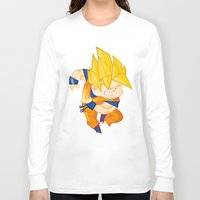 goku Long Sleeve T-shirts featuring Goku SSJ  by Juan David Giraldo Ramirez