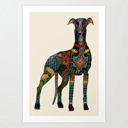 greyhound ivory Art Print