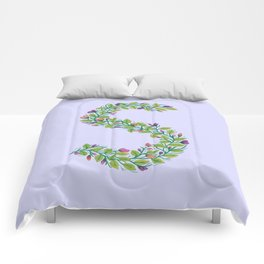 Leafy Letter S Comforters
