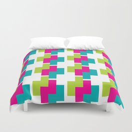 Bright Colors Nested Z's Pattern Duvet Cover