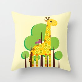 Decorated giraffe Throw Pillow