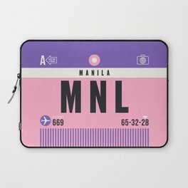 Luggage Tag A - MNL Manila Philippines Laptop Sleeve