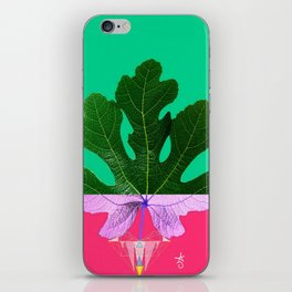 Fig Leaf Diamond Christmas - Other Half and Half iPhone Skin