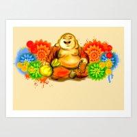 buddah Art Prints featuring Buddah by Adaildo Neto