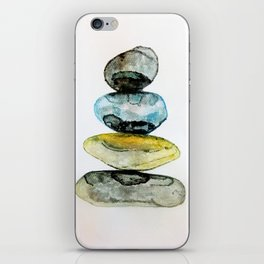 Stones in water colour iPhone Skin
