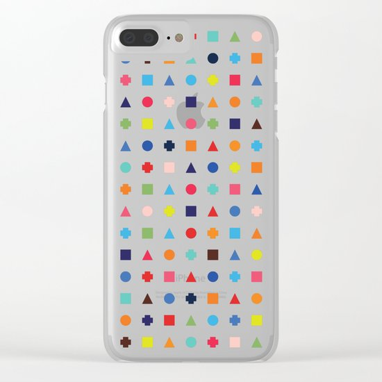 Dot Triangle Square Plus Repeat Clear iPhone Case