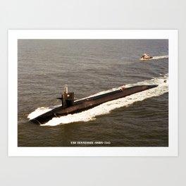 USS TENNESSEE (SSBN-734) Art Print