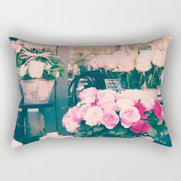 Paris flower market Rectangular Pillow