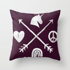 Sugar and Spice Compass Throw Pillow