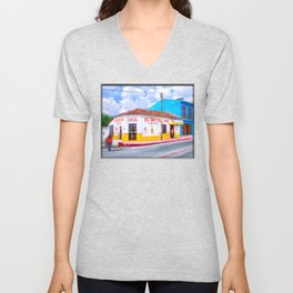 Tacos For Lunch In Chiapas Mexico Unisex V-Neck