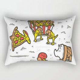 Jurassic-Fast-Food Rectangular Pillow