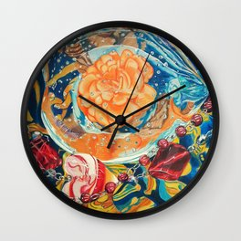 Paperweight on Fabric Wall Clock
